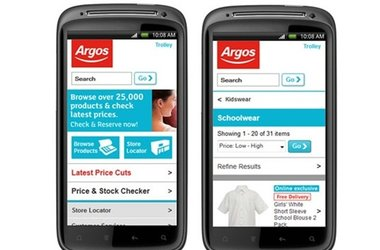 Argos retain multi-channel leadership with Mobile accounting for 4% of sales