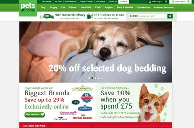 "Pets at Home ""Click & Collect"" doubles order expectations"