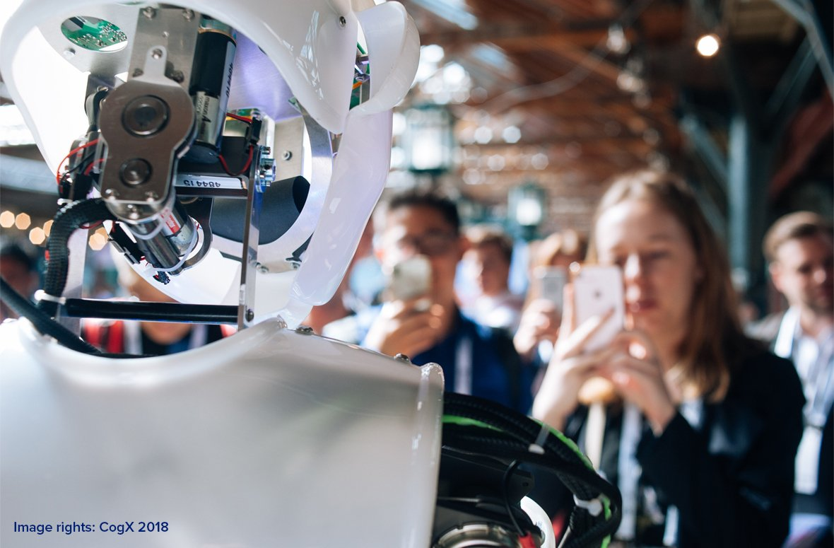 ​CogX 2018: Chatbots, Blockchain and Robothespians