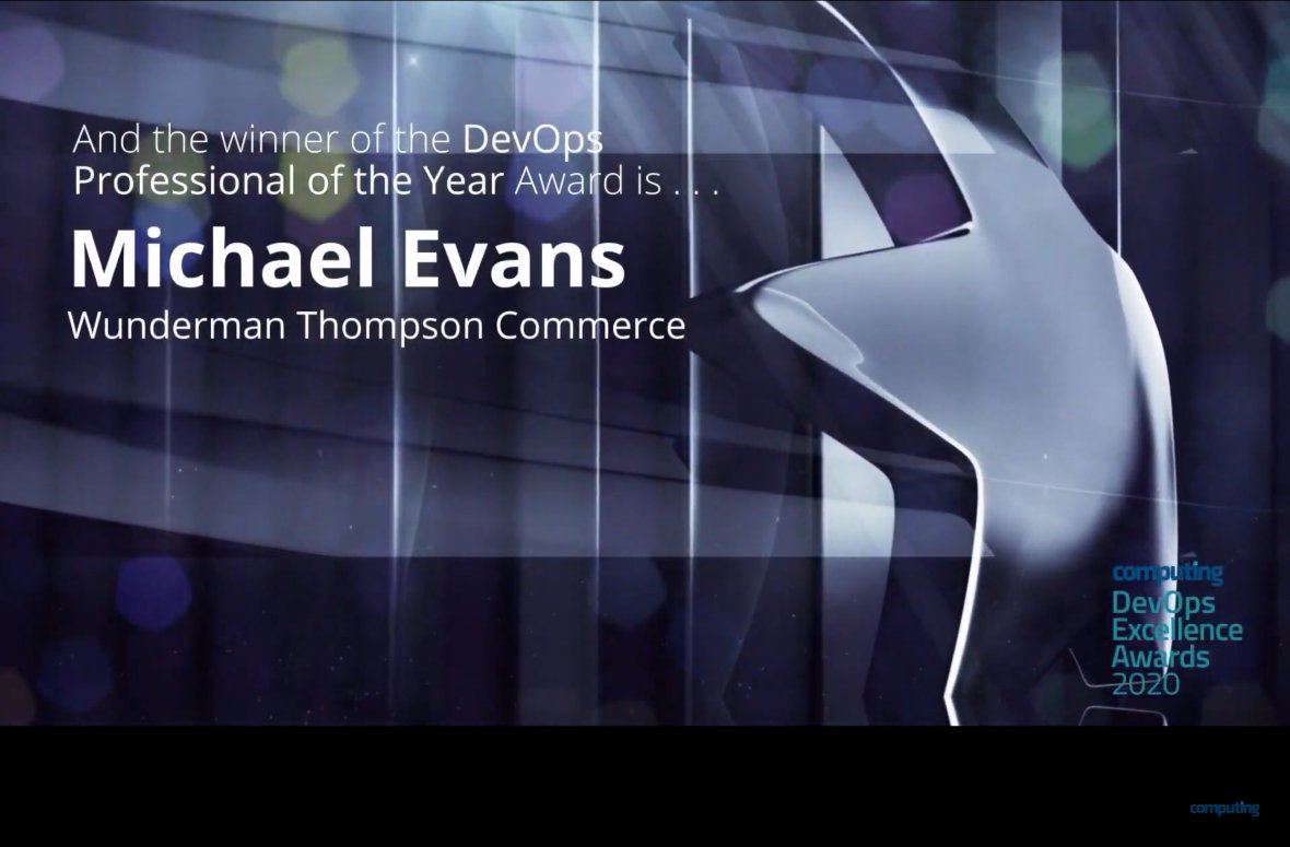 Michael Evans wins DevOps Professional of the Year 2020
