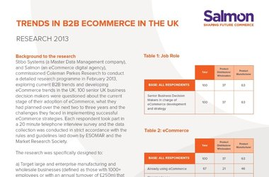 Trends in B2B eCommerce in the UK