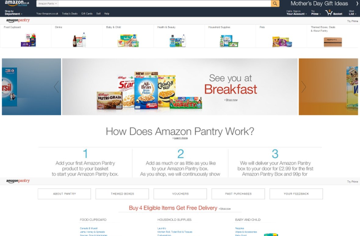 What threat does Amazon Pantry pose to the UK grocery sector