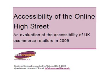 eCommerce accessibility and the UK's leading high street retailers