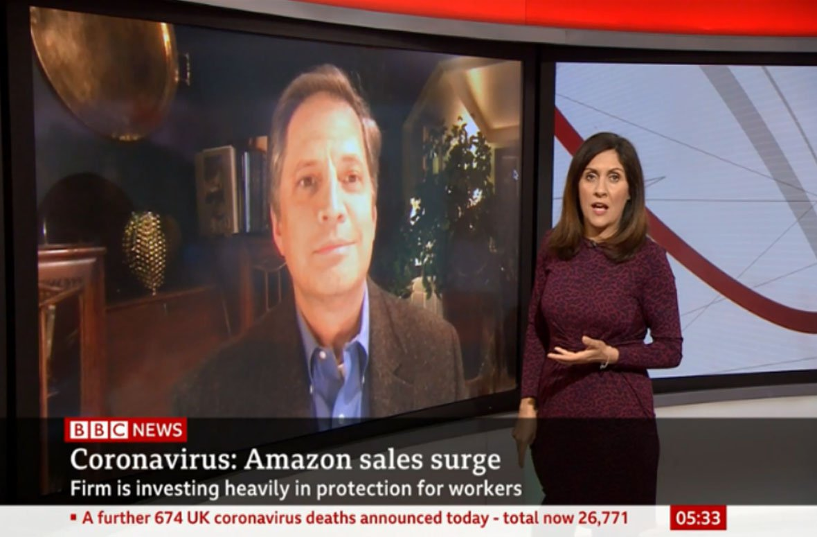 Frank Kochenash talks to the BBC about Amazon's Q1 results