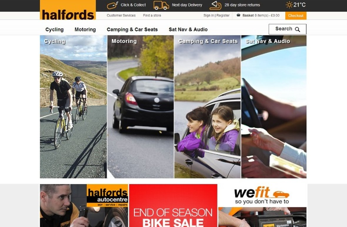Salmon enhance Halfords online customer experience unveiling their new digital platform for the future