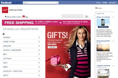 JC Penney + Facebook = eCommerce $'s
