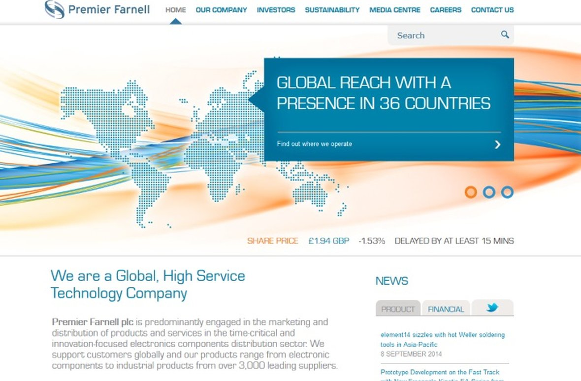 Premier Farnell announce their new global web platform