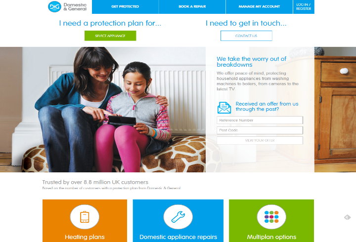 Domestic & General: WebSphere Commerce - Salmon